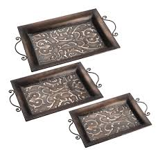Decorative Metal Tray Metal Trays Youll Love Wayfair