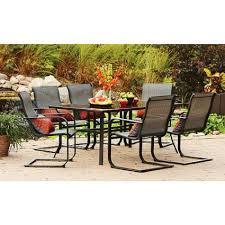 get ations patio dining set seats 6 patio furniture conversation set yard garden