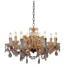 italian murano glass chandelier w beads prisms venetian vintage crystal