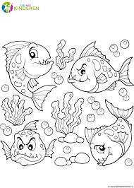 Vissen Kleurplaat Printen Kleurplaat Voor Kinderen