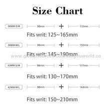 Watch Band Size Chart China Watch Bands For Apple Watch From Shenzhen Wholesaler