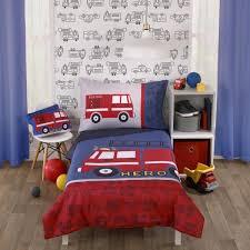 blue 4 piece toddler bedding set