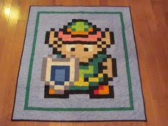 Hylian Shield Quilt Throw Size by cantustaylittle on Etsy, $180.00 ... & Video Game Quilt Adamdwight.com