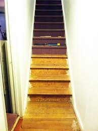 carpet on stairs. diy: stair runner carpet on stairs e