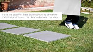 patio stones with grass in between. Wonderful Stones Installation Of The EVOKE Tiles Onto A Grass Substrate With Patio Stones Grass In Between