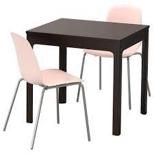 Ekedalen Leifarne Tisch Und 2 Stühle Dunkelbraun Rosa In 2019