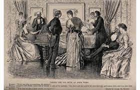 plague in d minor couples amuse one another by playing the piano and singing wood engraving after george du maurier credit wellcome library london 19th century women