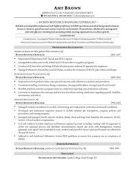 Human Resources Generalist Resume Best Hr Sample Resume Free