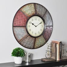 round patchwork wall clock