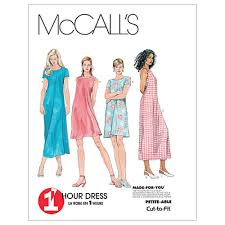 Mccall Patterns Enchanting McCall's Misses' Dress In 48 Lengths Pattern M614848 Size 48B48