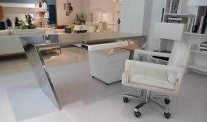 chrome office desk. VIG Modrest Clif Modern Chrome Office Desk \u0026 Cabinet In White - Lifestyle N
