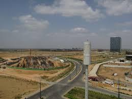 wtc gift city site construction progress june 2016 aerial view taken from jamnabai ne