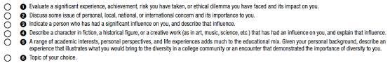 college essay topics schools