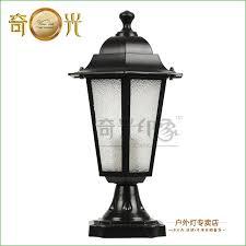 lighting exterior post lantern light hampton bay waterproof outdoor lamp post column head fashion w