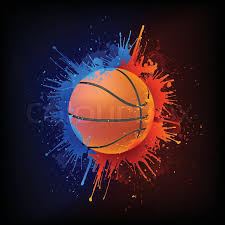 Backgrounds Basketball Basketball Ball In Paint Isolated On Stock Vector Colourbox