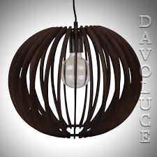 puffin 30 pendant with a white brown or black timber shade from domus