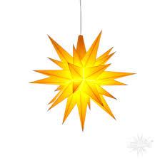 Herrnhuter Stern Innen 13cm Gelb Mit Led Adventsstern Weihnachtsstern