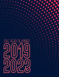 Multi Year Planner 2019 2023 Five Year Planner Multi Year Calendar Monthly