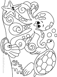 Printable Sea Life Coloring Pages Free For Alluring Sealife Coloring
