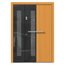 timber front doors modern and