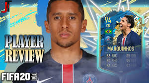 FIFA 20 TOTSSF MARQUINHOS 94 PLAYER REVIEW - YouTube