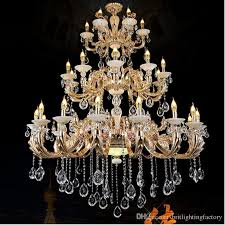 extra large chandelier. Gold Chandelier Antler Extra Large Chandeliers Hotel Hall Candle Living Room Retro Banquet Crystal Lift T