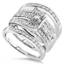 Wedding Rings 3 Piece Wedding Ring Set Photo From Pinterest 3