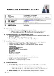 Cement Process Engineer Sample Resume Nardellidesign Com
