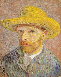 vincent van gogh essay heilbrunn timeline of art  self portrait a straw hat obverse the potato peeler