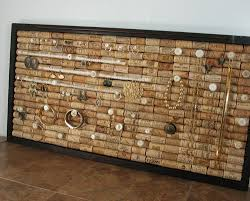 Jewelry Organizer Diy Jewelry Genie Wine Cork Jewelry Organizer Cork Wine And