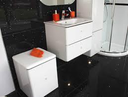 quartz star stone black floor tile