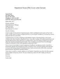 Nursing Resume Cover Letter Examples Resume Web