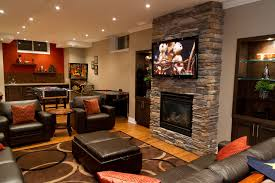 basement home theater with fireplace. image of: basement family room design ideas home theater with fireplace