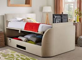 Ottoman In Bedroom Evolution Tv Ottoman Bed With Led Tv Oatmeal Dreams