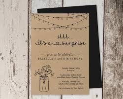 Rustic Surprise Party Invitation Template Printable Surprise Birthday Invite Mason Jar Light Pdf Instant Download Digital File Women