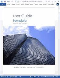 Microsoft Word User Manual Template User Guide Template Download Ms