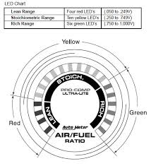 how to install an auto meter pro comp ultra lite air fuel ratio Auto Meter Gauge Wiring Diagram Voltage the air fuel ratio monitor has 20 led's four red that indicate lean, ten yellow that indicate stoichiometric ratio, and six that indicate rich Auto Meter Volt Gauge Wiring