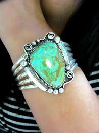 authentic sterling silver and turquoise navajo jewelry bracelet silvertribe