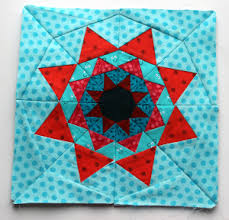 Free Paper Piecing Patterns | WOMBAT QUILTS & red aqua paper piecing star quilt block pattern Adamdwight.com