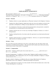 Free Employment Contract Templates Employee Contract Form Wisconsin Free Download
