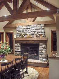 simple living room and dining room bo stone fireplace design classic stack stone fireplace design with