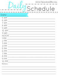 Daily Schedule Template Printable Free Free Printable Daily Schedule Tips Pinterest Free Printable 6