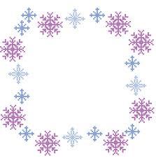 purple snowflake border.  Border Purple Christmas Border And Purple Snowflake Border