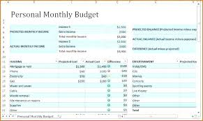 Template For Home Budget Monthly Home Budget Template
