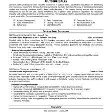 Outside Sales Resume Sample Sales Resumes Templates Resume Free Template Word Best Of Sales 50