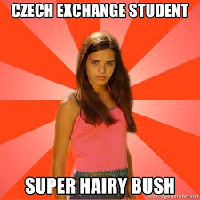 Hairy hairy bush czech teen