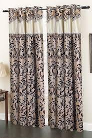 Indian Curtain Designs Pictures Homefab India Elegency Designer Modern 2 Piece Eyelet Polyester Window Curtain Set 6ft Brown