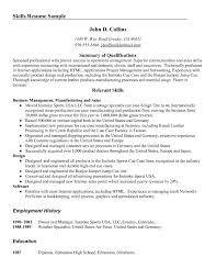 Relevant Skills Resume Free Resume Templates 2018