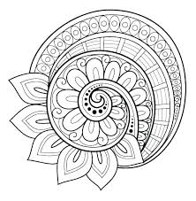 Coloring Pages Easy Mandala Coloring Pages Printable Free To Print