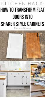Kitchen Cabinets Doors And Drawers Extraordinary Kitchen Hack DIY Shaker Style Cabinets Cherished Bliss